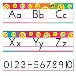 Emoji Alphabet Line Manuscript Bulletin Board Set , T-8288