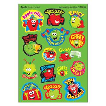 Appealng Apples Mixed Shapes Stinky Stickers, T-83036