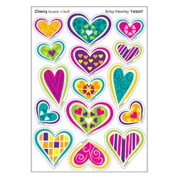 Artsy Heartsy/Cherry Shapes Stinky Stickers, T-83037