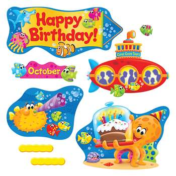 Sea Buddies Birthday Bulletin Board Set, T-8305