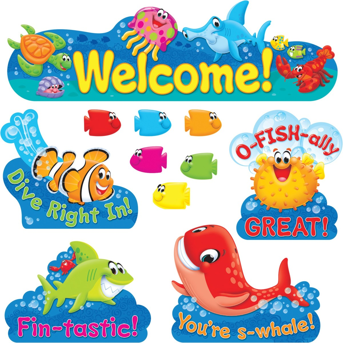 800 Sea Buddies School Teacher Reward Fish Stickers Ideal For Incentive Charts