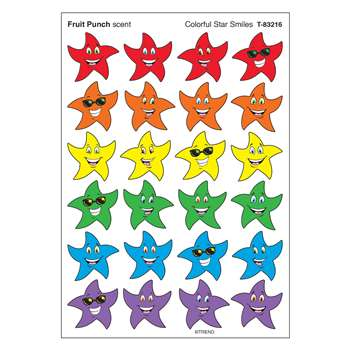 Stinky Stickers Colorful Star Smile By Trend Enterprises