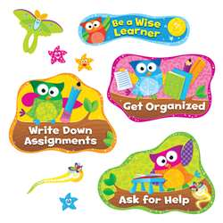 Owl Stars Study Habits Bulletin Board Set By Trend Enterprises