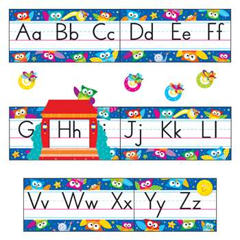 Owl Stars Alphabet Bulletin Board Set By Trend Enterprises