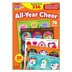 All-Year Cheer Stinky Stickers Scratch N Sniff Var, T-83919