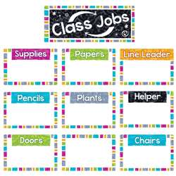 Wipe-Off Class Jobs Mini Bulletin Board St Color H, T-8780