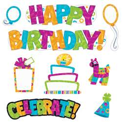 Wipe-Off Birthday Mini Bulletin Board St Color Har, T-8781