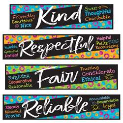 Character Traits Mini Bulletin Board St Color Harm, T-8782