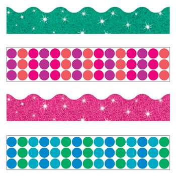 Dots N Glitz Border Variety Pack, T-90826