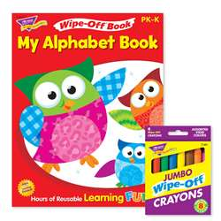 Alphabet Reusable Book & Crayons, T-90913