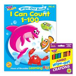 Count To 100 Reusable Book & Crayns, T-90915