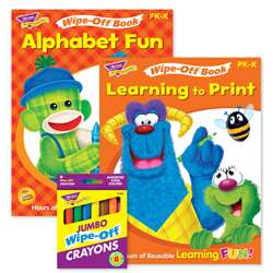 Abcs & Printing Reusable Books & Crayons, T-90917