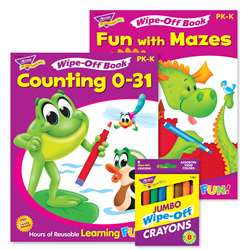 Counting & Mazes Reusable Books & Crayons, T-90918