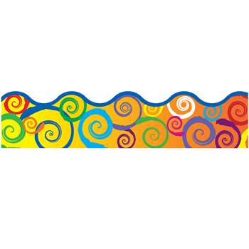 Rainbow Swirls Terrific Trimmer By Trend Enterprises