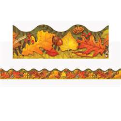 Leaves Of Autumn Trimmers Scalloped Edge 12/Pk 2.25 X 39 Total By Trend Enterprises