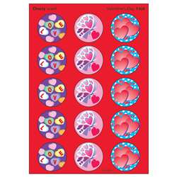 Stinky Stickers Valentines Day 60Pk Cherry Acid-Free By Trend Enterprises