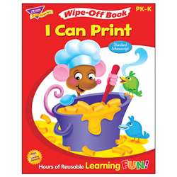 I Can Print Z-B 28Pg Wipe-Off Books Ooks By Trend Enterprises