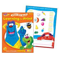 Learning To Print Furry Friends Wipe Off Book Gr Pk-K By Trend Enterprises