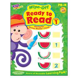 Ready To Read Level 1 Monkey Mischief Wipe Off Book Gr Pk-K By Trend Enterprises