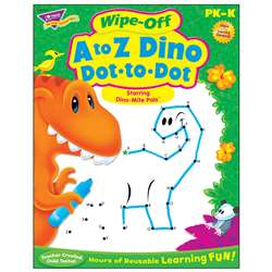 A To Z Dino Dot To Dot Dino-Mite Pals Wipe Off Boo, T-94161