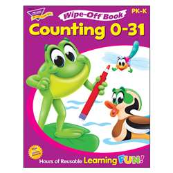 Counting 0-31 28Pg Wipe-Off Books Ks By Trend Enterprises