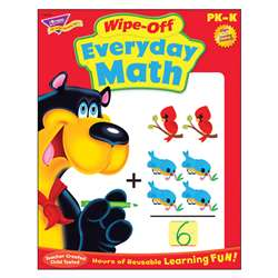 Everyday Math Wipe Off Book Gr Pk-K By Trend Enterprises