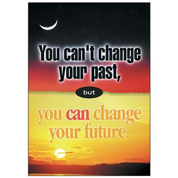 Poster You Can'T Change Your Past By Trend Enterprises