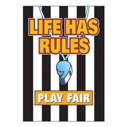 Poster Life Has Rules Play Fair By Trend Enterprises