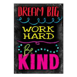 Dream Big Word Hard Be Kind Poster, T-A67090