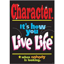 Poster Character. Its How You Live By Trend Enterprises