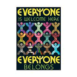 Everyone Is Welcome Here Everyone Belongs Argus Large Poster By Trend Enterprises
