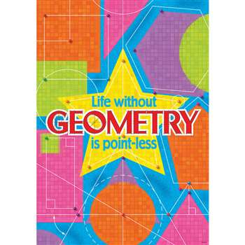 Life Without Geometry Is Point Less Argus Large Poster By Trend Enterprises