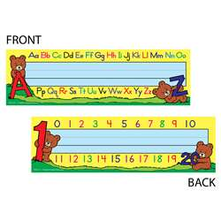 Alphabet & Numbers 36Pk Tented Name Plates 7 X 11 By Teacher Created Resources