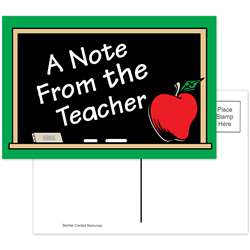 A Note From The Teacher 30Pk Postcards 4X6 By Teacher Created Resources