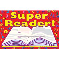 Super Reader Awards 25Pk 8-1/2 X 5-1/2 By Teacher Created Resources