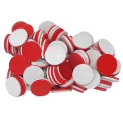 Foam Counters Red & White By Teacher Created Resources