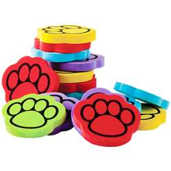 "Foam 100 "" 5 Color Paw Print Counters, TCR20643"