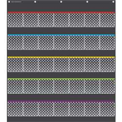 Black Polka Dots Storage Pocket Chart, TCR20750