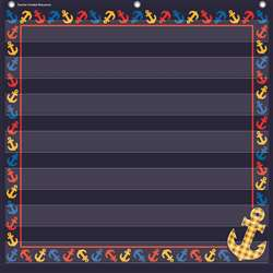 Anchors 7 Pocket 28X28 Pocket Chart, TCR20781