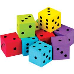 20 Pack Foam Colorful Dice, TCR20808