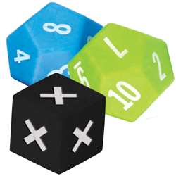 3 Pack Multiplication Dice, TCR20812