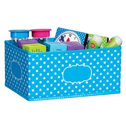 Small Aqua Polka Dots Storage Bin, TCR20815
