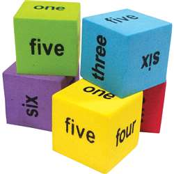 20 Pack Foam Number Word Dice, TCR20822