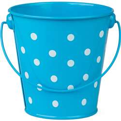 Aqua Polka Dots Bucket, TCR20823