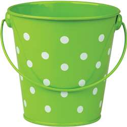 Lime Polka Dots Bucket, TCR20824