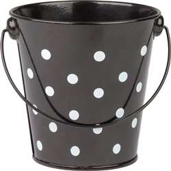 Black Polka Dots Bucket, TCR20825
