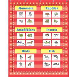 "34x44"" Red Marquee Pocket Chart 10 Pockets, TCR20831"