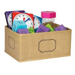 Burlap Storage Bin Small, TCR20832
