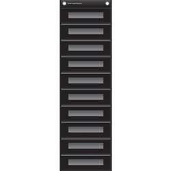 File Storage Pocket Chart Black, TCR20841