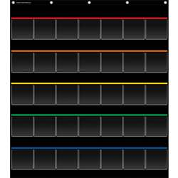 Black Storage Pocket Chart, TCR20844